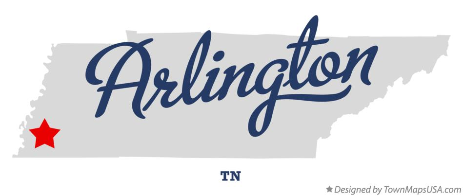 Map of Arlington Tennessee TN