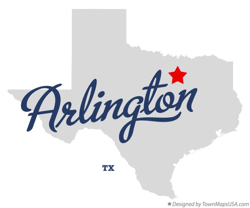 Map Of Arlington Tx Texas