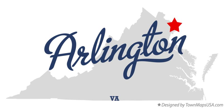 Map of Arlington Virginia VA