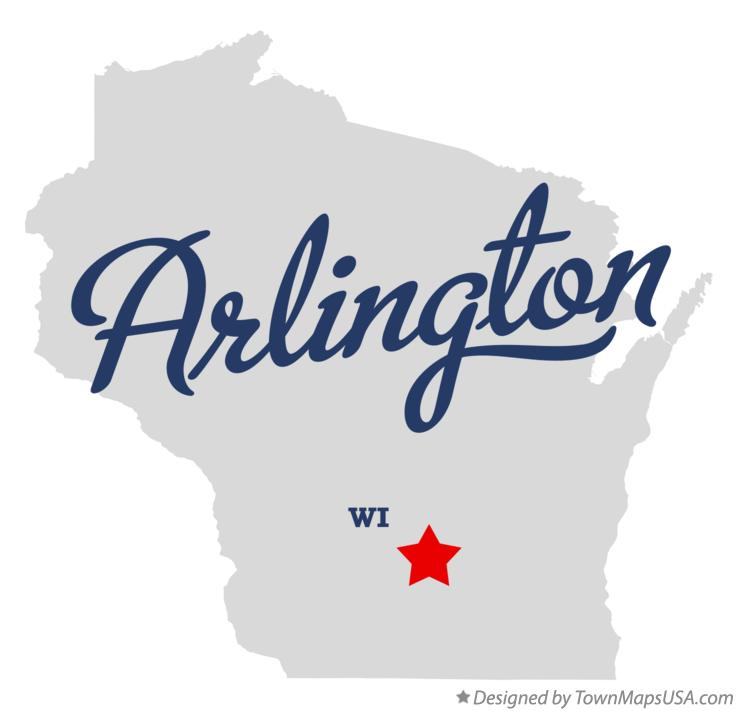 Map of Arlington Wisconsin WI