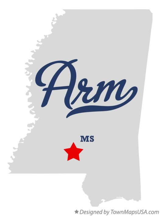 Map of Arm Mississippi MS