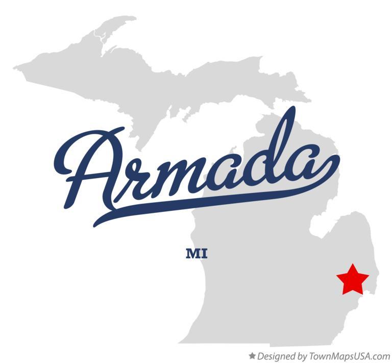 Map Of Armada Mi Michigan