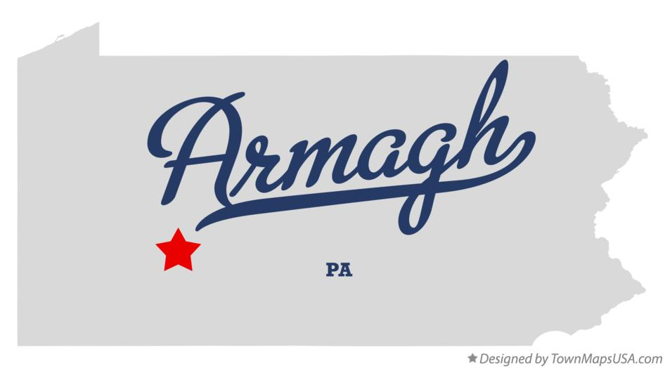 Map of Armagh Pennsylvania PA