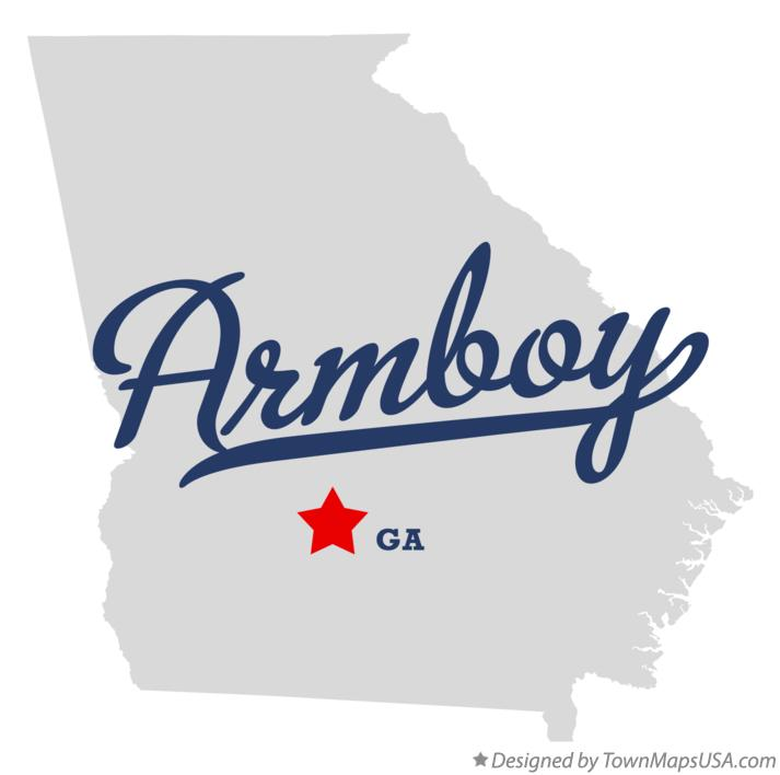Map of Armboy Georgia GA
