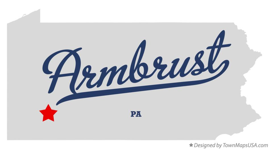 Map of Armbrust Pennsylvania PA
