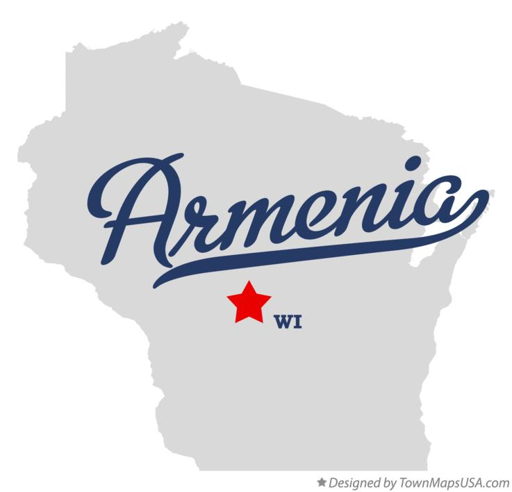 Map of Armenia Wisconsin WI
