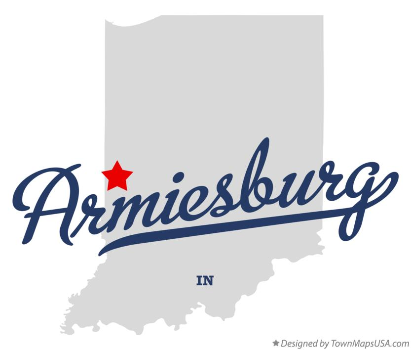 Map of Armiesburg Indiana IN