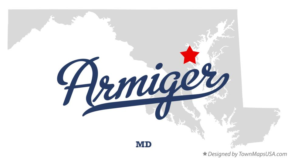 Map of Armiger Maryland MD