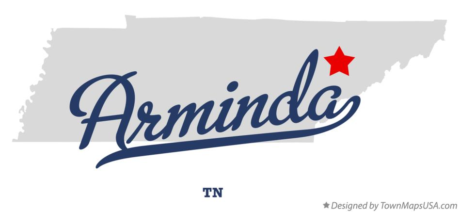 Map of Arminda Tennessee TN