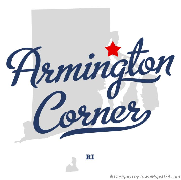 Map of Armington Corner Rhode Island RI