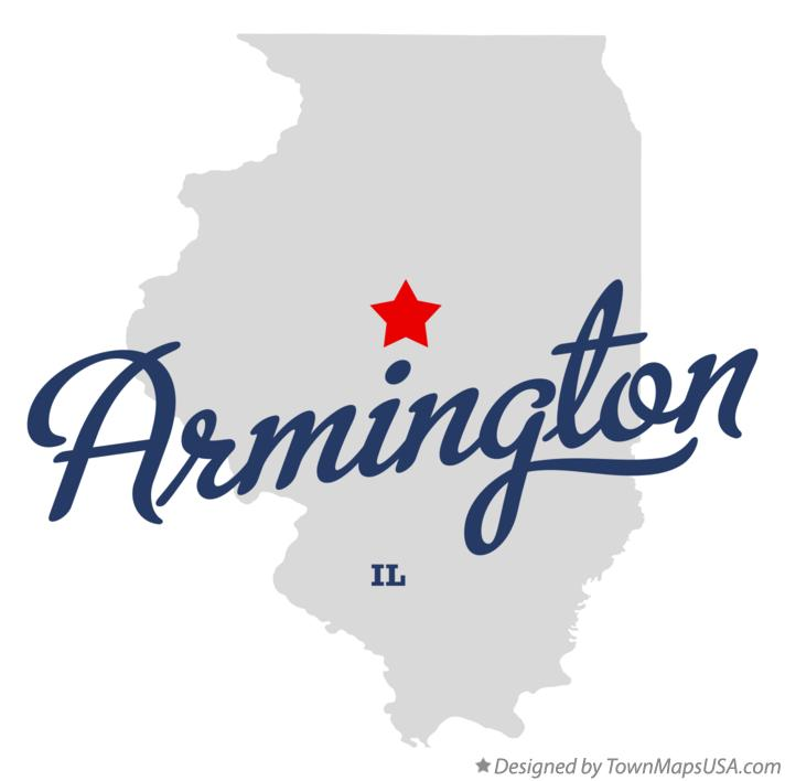 Map of Armington Illinois IL