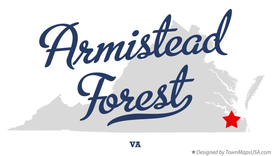 Map of Armistead Forest Virginia VA