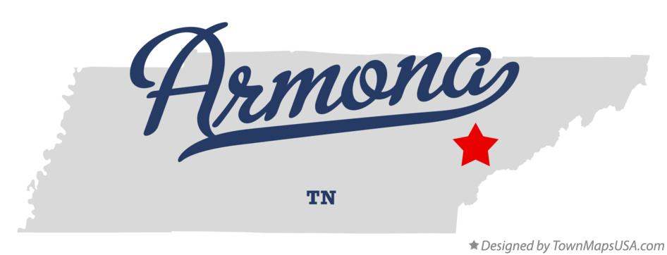 Map of Armona Tennessee TN