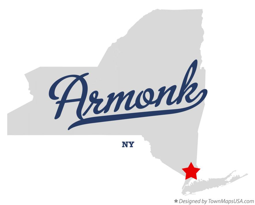 Map of Armonk New York NY