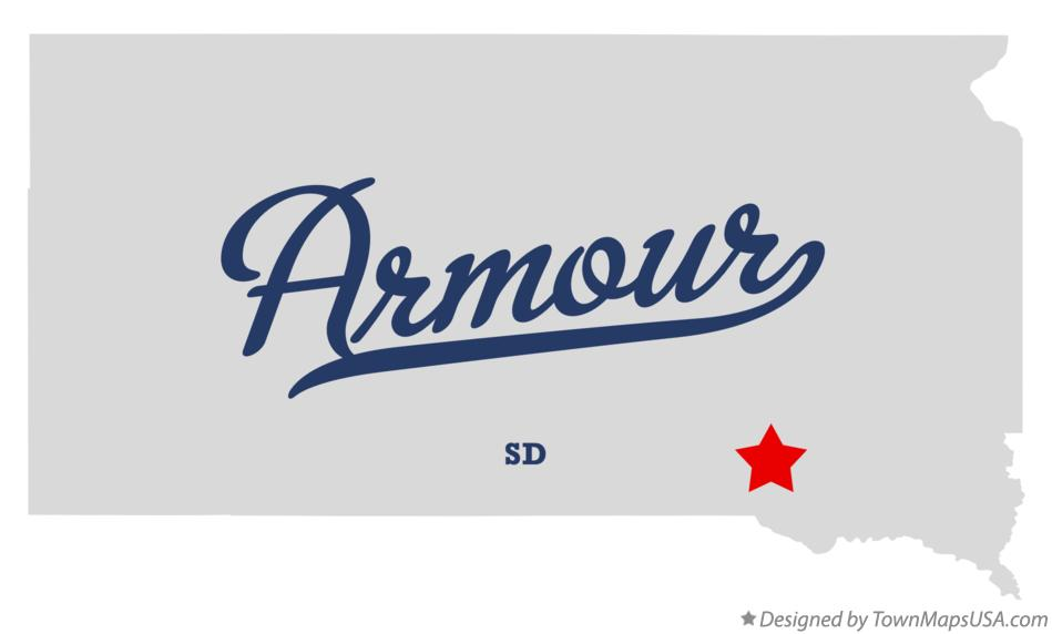 Map of Armour South Dakota SD