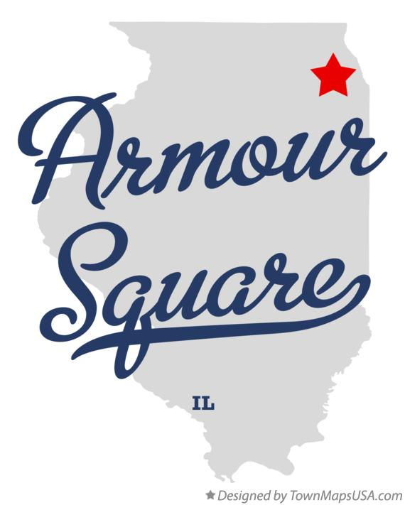 Map of Armour Square Illinois IL
