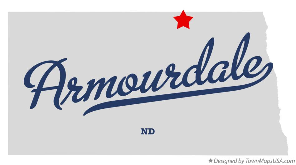 Map of Armourdale North Dakota ND