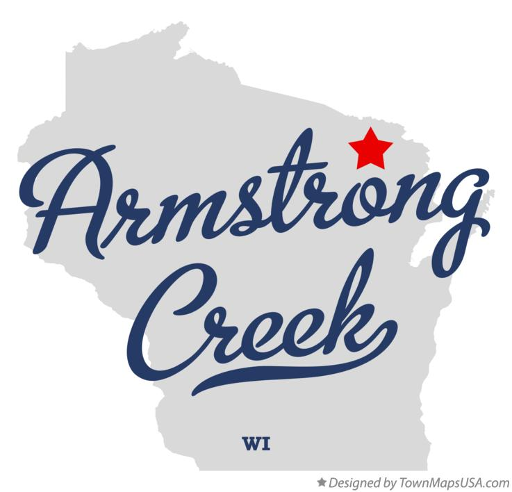 Map of Armstrong Creek Wisconsin WI