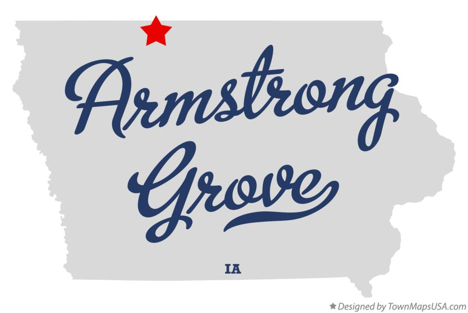 Map of Armstrong Grove Iowa IA