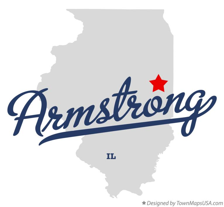 Map of Armstrong Illinois IL