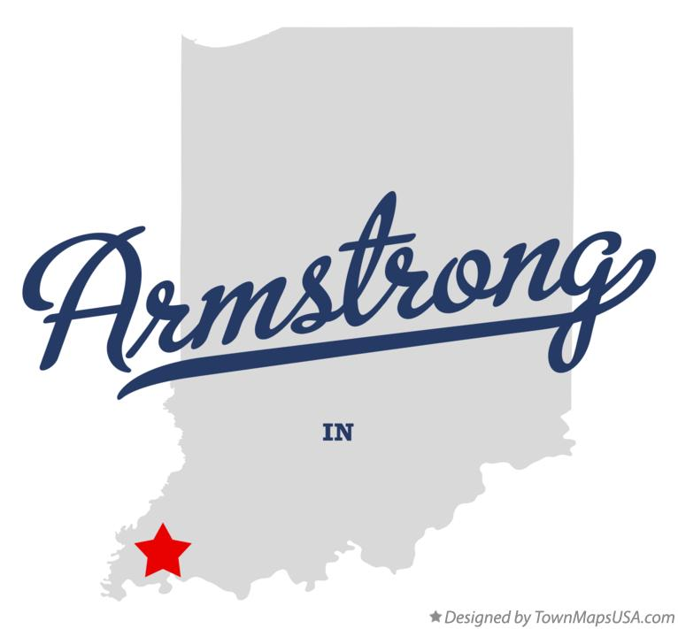 Map of Armstrong Indiana IN