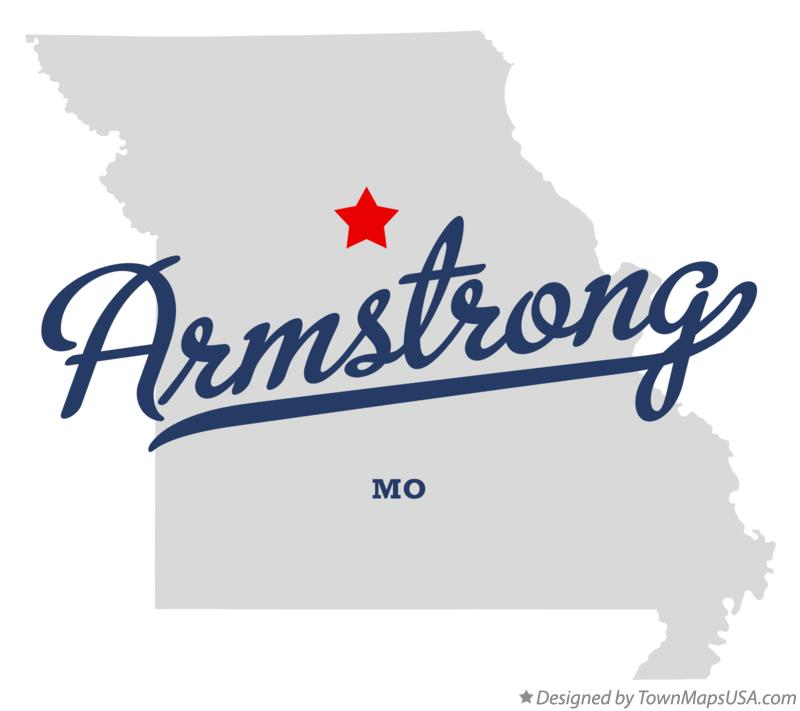 Map of Armstrong Missouri MO