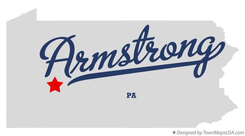 Map of Armstrong Pennsylvania PA