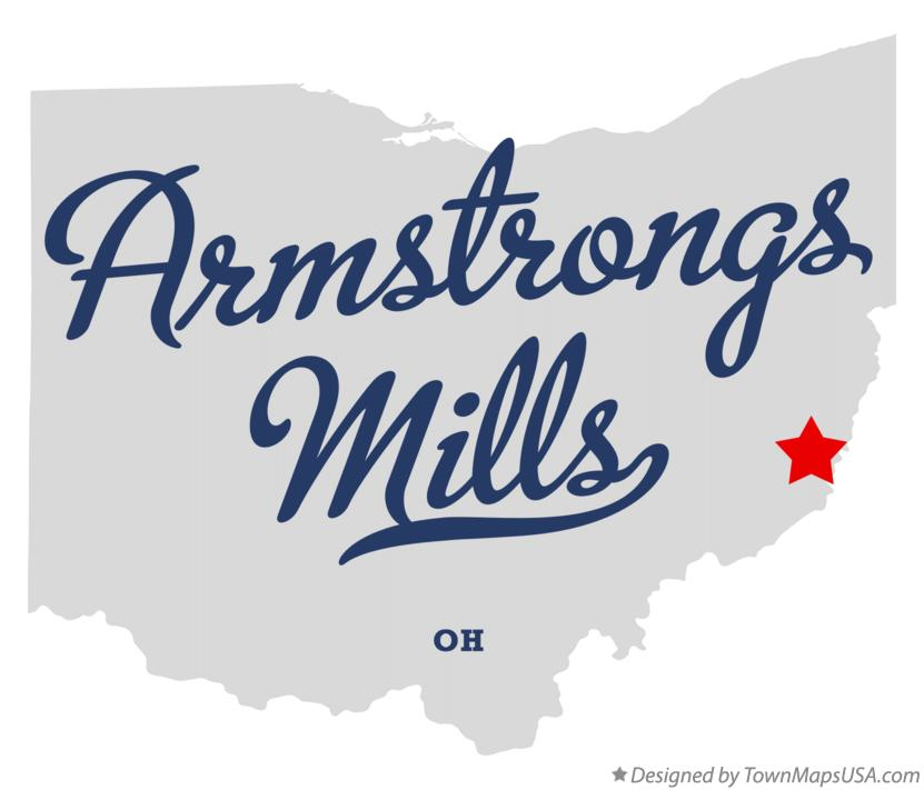 Map of Armstrongs Mills Ohio OH