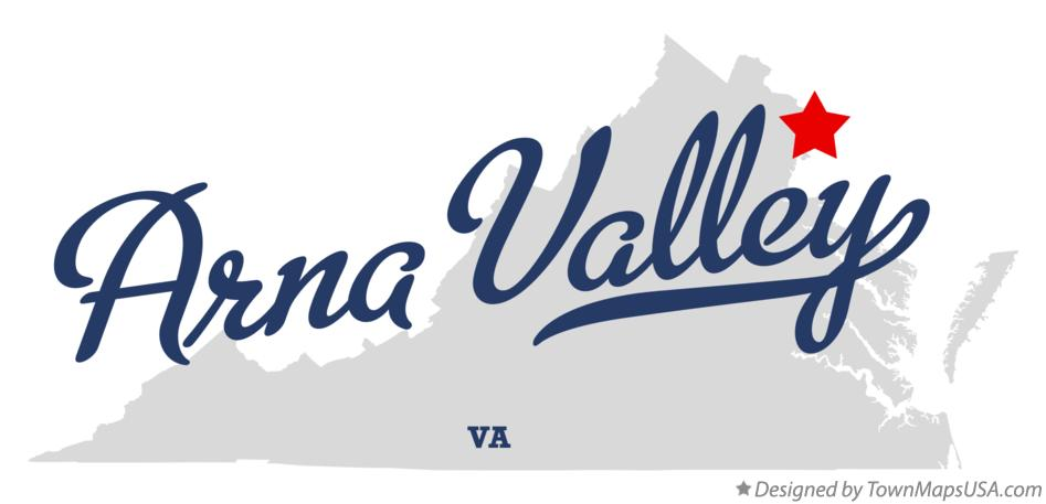 Map of Arna Valley Virginia VA