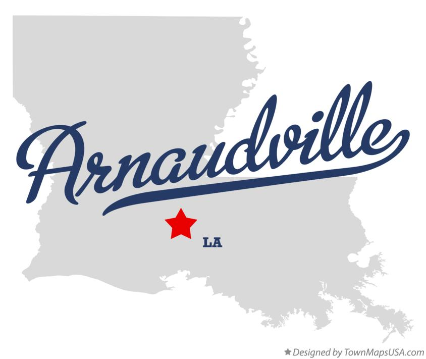 Map of Arnaudville Louisiana LA