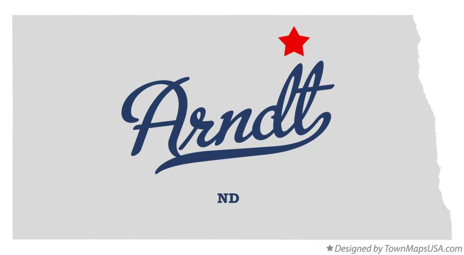 Map of Arndt North Dakota ND