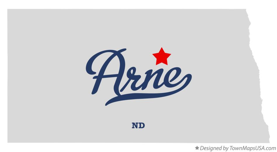 Map of Arne North Dakota ND