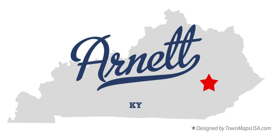 Map of Arnett Kentucky KY