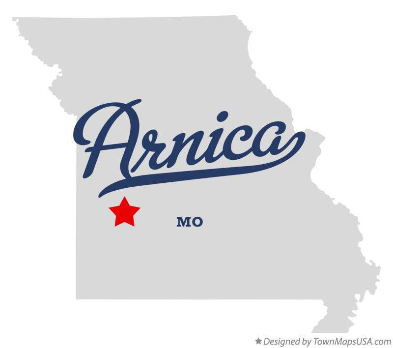 Map of Arnica Missouri MO