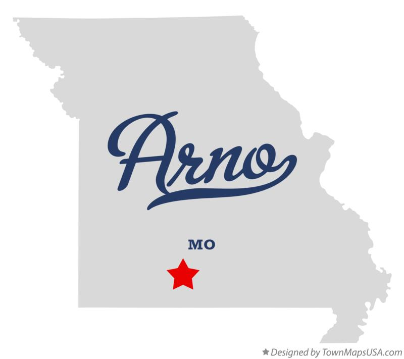 Map of Arno Missouri MO