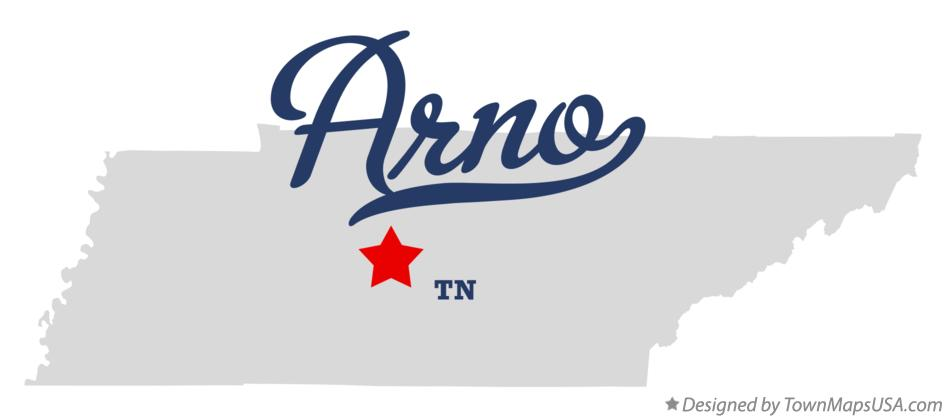 Map of Arno Tennessee TN