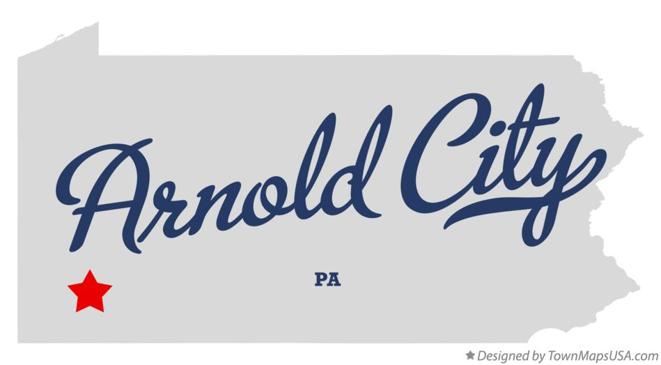 Map of Arnold City Pennsylvania PA