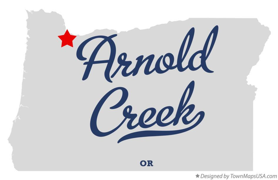 Map of Arnold Creek Oregon OR