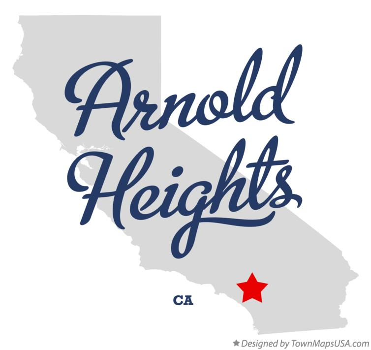 Map of Arnold Heights California CA