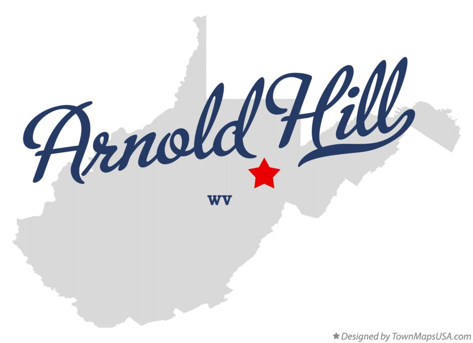 Map of Arnold Hill West Virginia WV