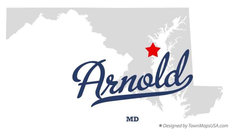 Map of Arnold Maryland MD