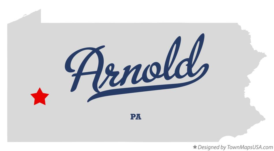 Map of Arnold Pennsylvania PA