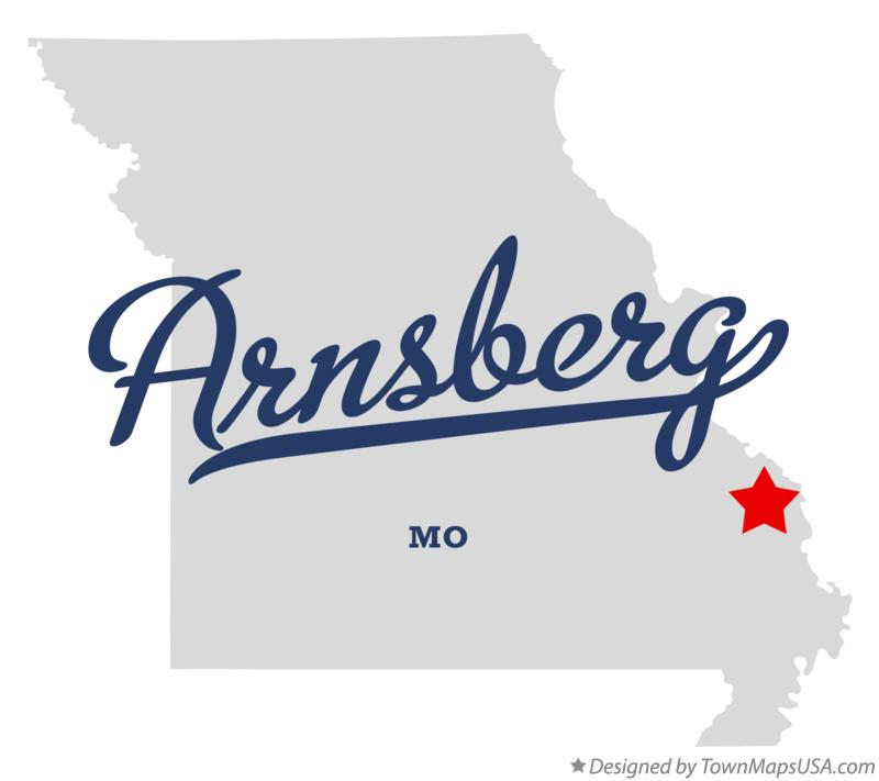 Map of Arnsberg Missouri MO