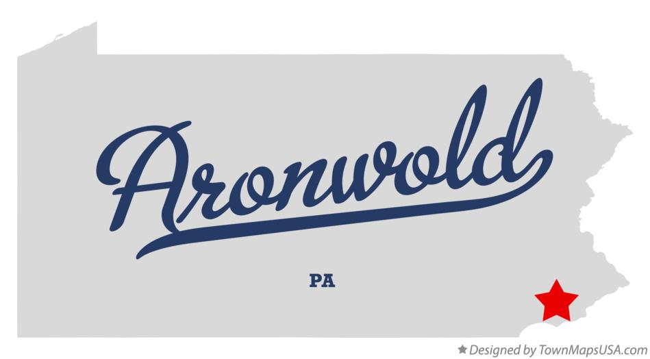 Map of Aronwold Pennsylvania PA