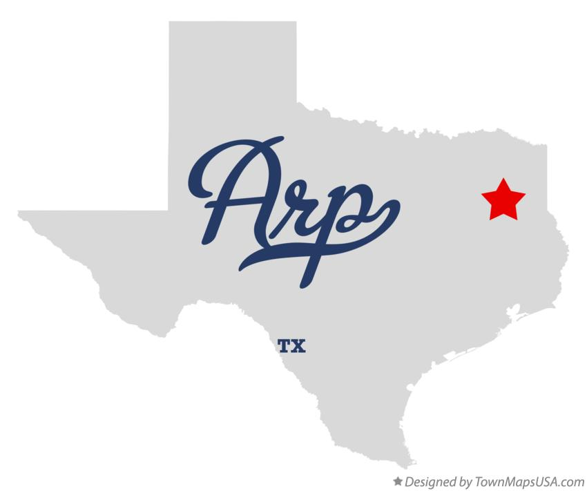 Map of Arp Texas TX