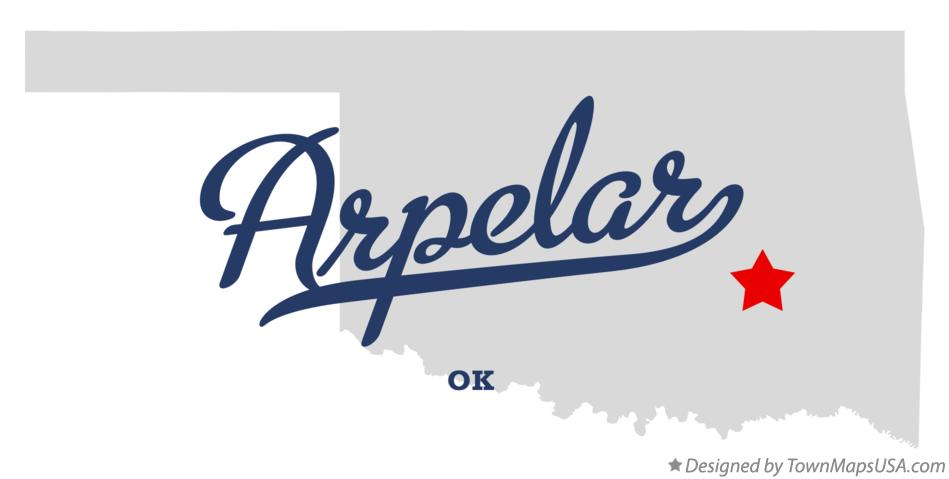 Map of Arpelar Oklahoma OK