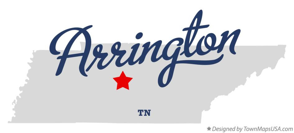 Map of Arrington Tennessee TN