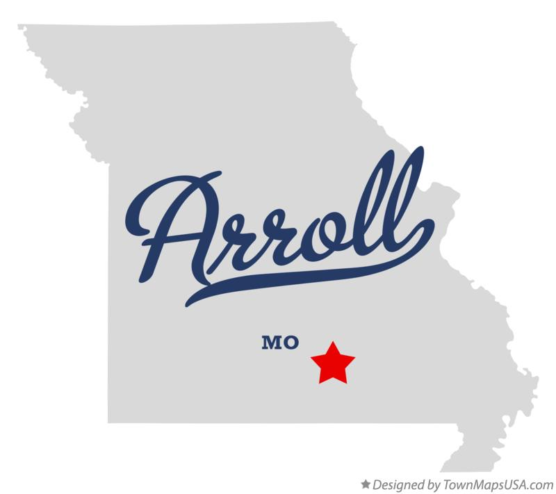Map of Arroll Missouri MO