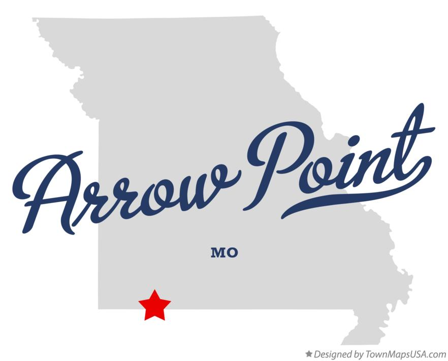 Map of Arrow Point Missouri MO