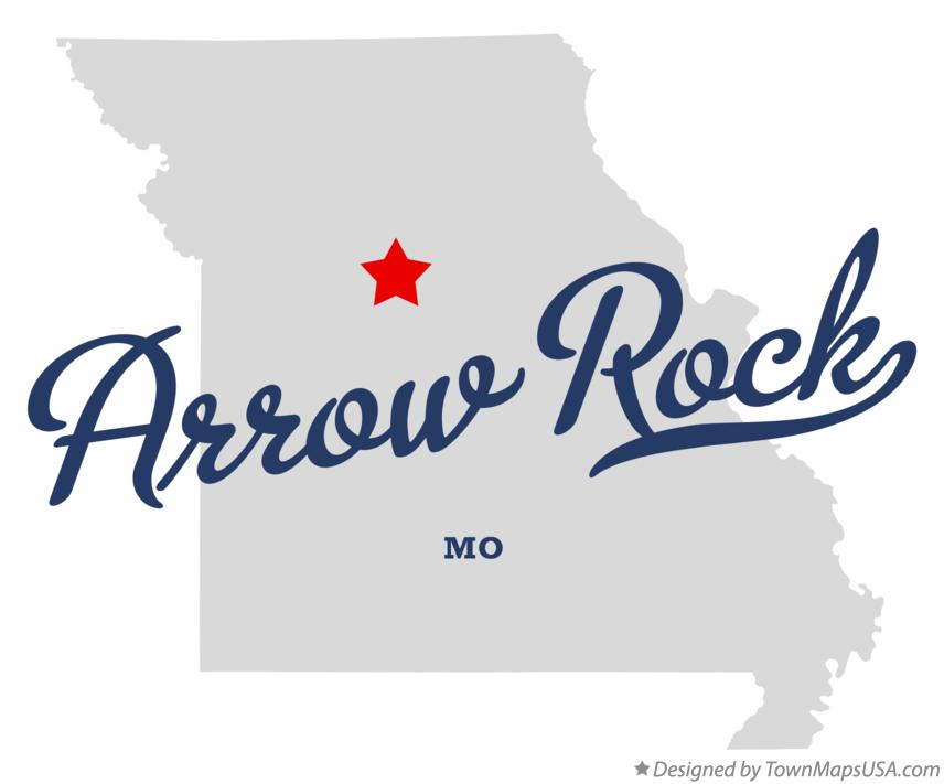 Map of Arrow Rock Missouri MO